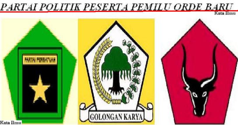PPP (partai persatuan pembangun)fusi dari partai NU, Parmusi, PSII dan ...