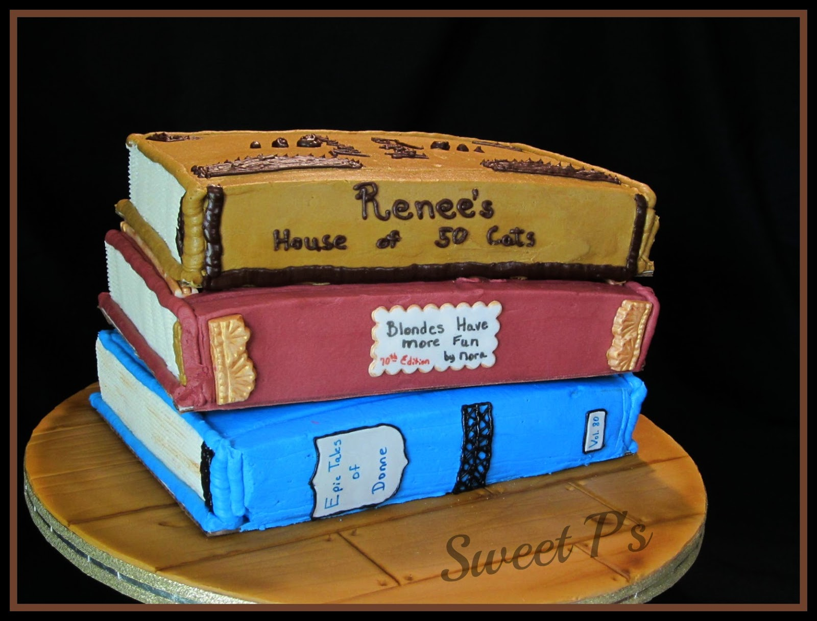 Cake Decorated Like Books : Non-Traditional Wedding Cakes Sweet P s Cake Decorating ...