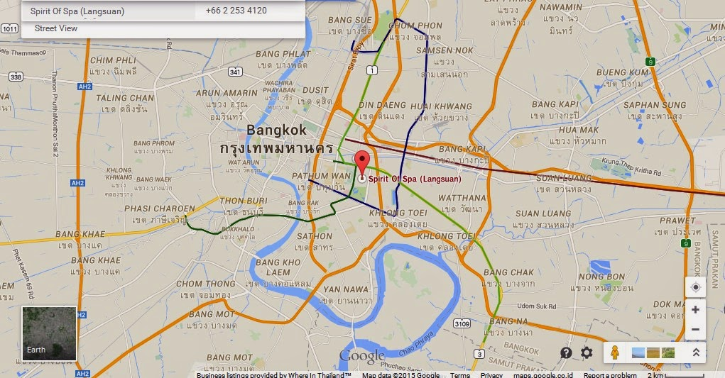 Spirit of Spa Bangkok Map Tourist Attractions in Bangkok – Thailand Tourist Attractions Map