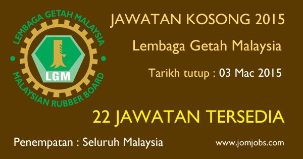 Jawatan Kosong Lembaga Getah Malaysia (LGM) Terkini 2015