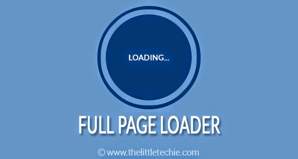 CSS3 full page loader