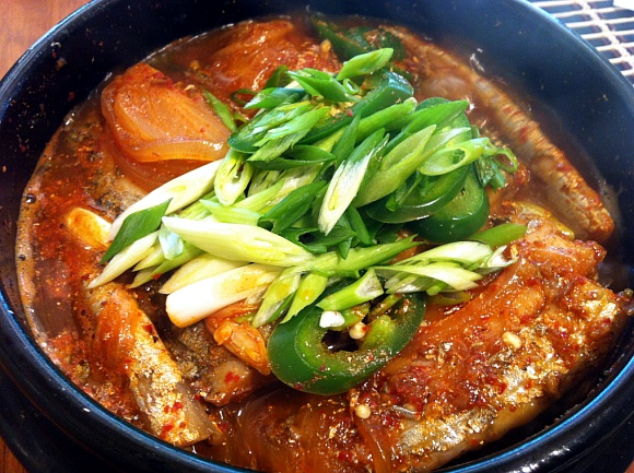 Kalchi jorim korean style braised silver hairtail for J kitchen korean japanese restaurant