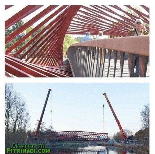gambar senibina rekaan jambatan dipulas twist unik