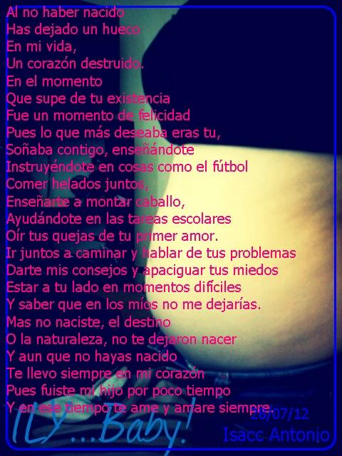 Susana Glez♥: Carta a Mi Bebe no nacido ♥