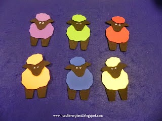 Coloured sheep game for children