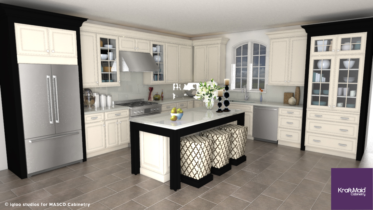 Products For SketchUp KraftMaid Cabinetry Igloo Studios - Kraftmaid kitchen island
