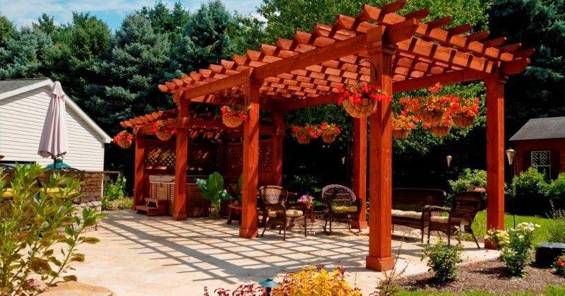 Dise o de pergolas para jardin patios y jardines - Pergolas para jardines pequenos ...