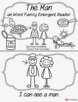 http://www.teacherspayteachers.com/Product/Word-Family-Emergent-Reader-FREEBIE-an-1055599