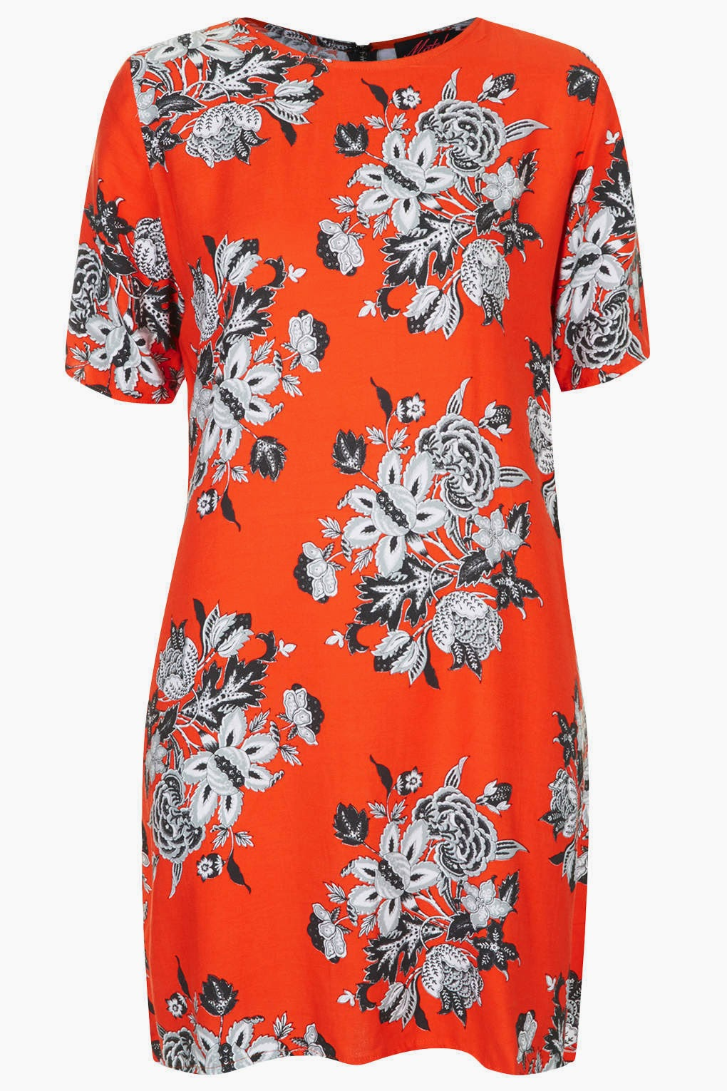 topshop orange dress