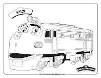 chuggington wilson train coloring pages