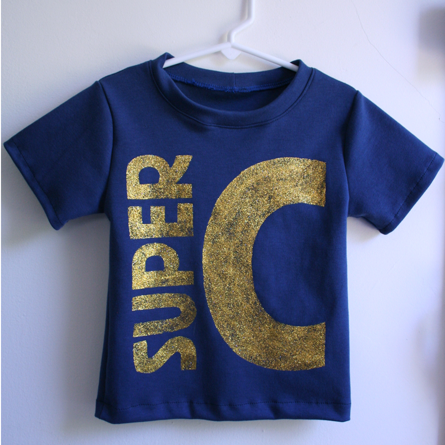 """Super C"" Muscle Tee by Tangible Pursuits for Embellish is for Boys"