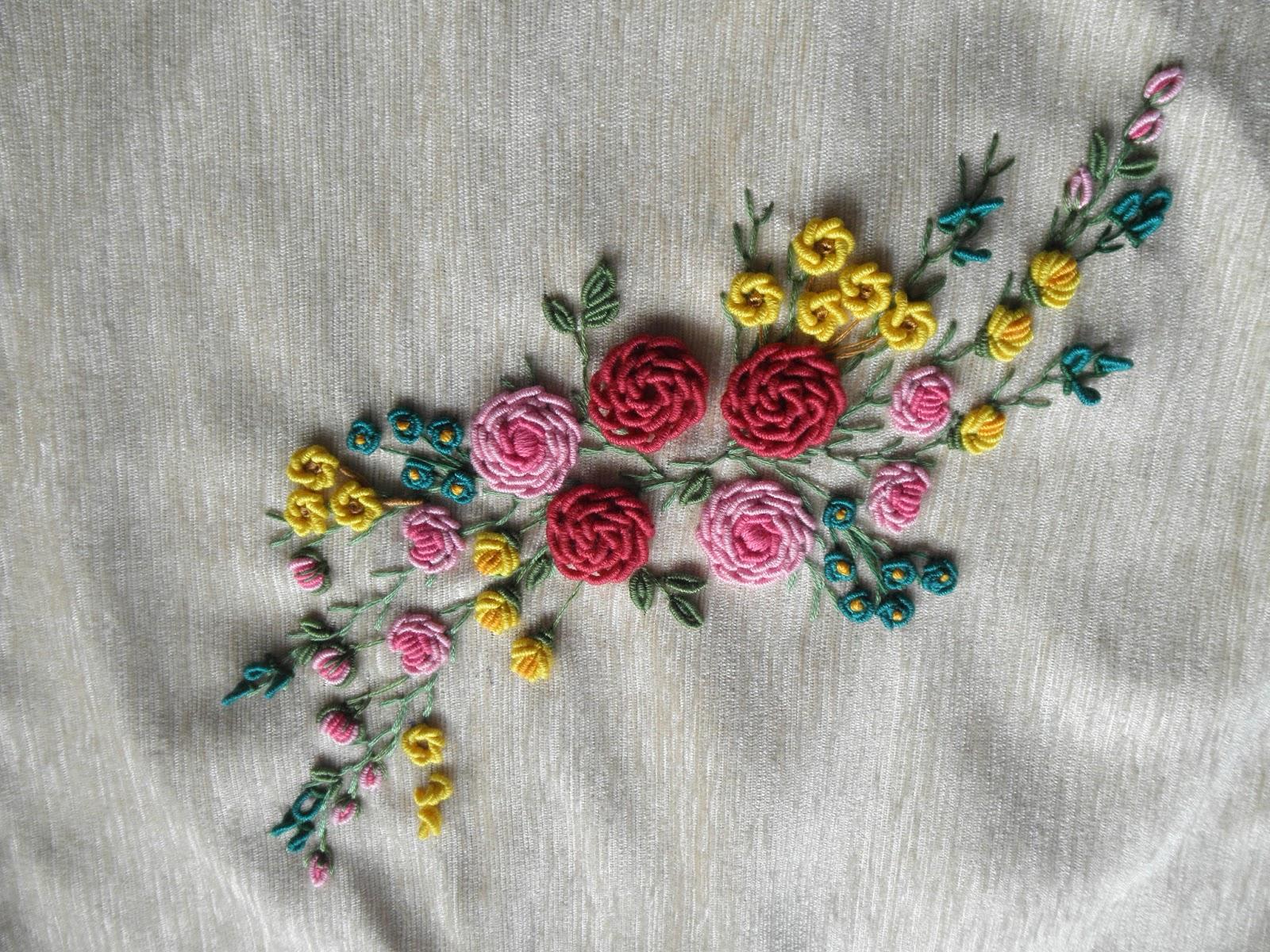 Embroidery Hyacinth: Bullion Stitch - 2nd design :)