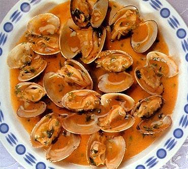 Cocina facil rapida y sana almejas a la marinera - Cocina rapida y facil ...