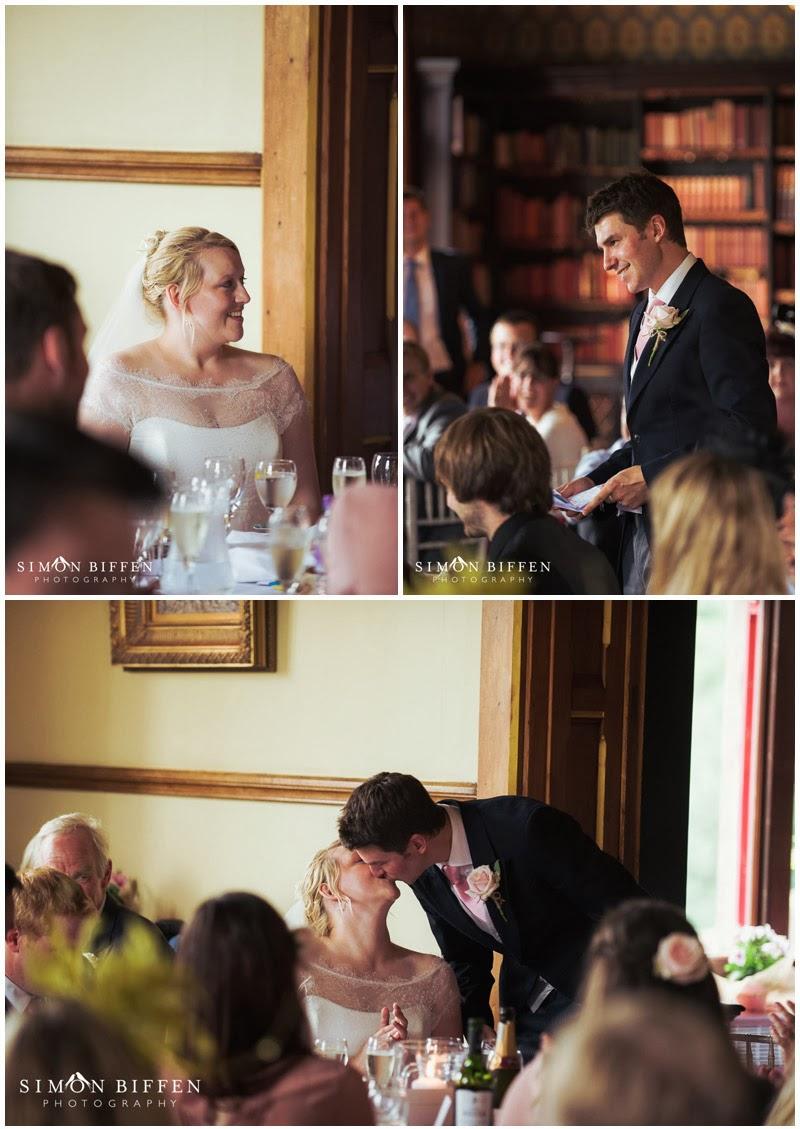 Groom wedding speech photographs at Huntsham Court