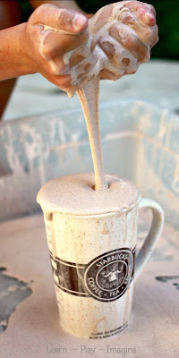 Pumpkin Spice Latte Oobleck - A sensory experience that captures the very best scent of fall!