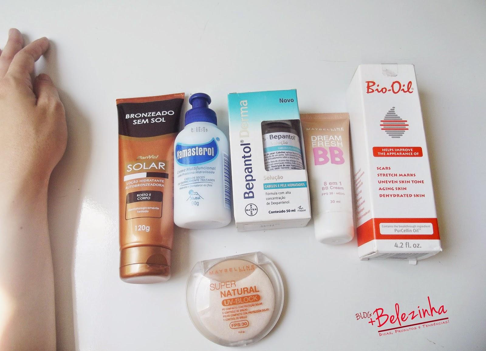 comprinhas-maquiagem-cosméticos-bio-oil-bepantol-bb cream