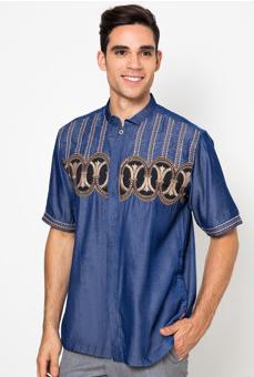 Contoh desain busana muslim koko pria terbaik