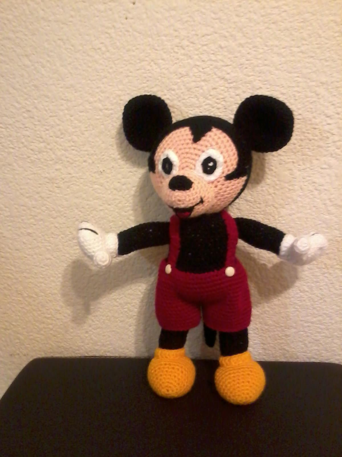 Amigurumi Disney Tutorial : NOVEDADES JENPOALI: PATRON MICKEY MOUSE AMIGURUMI (2) (DISNEY)