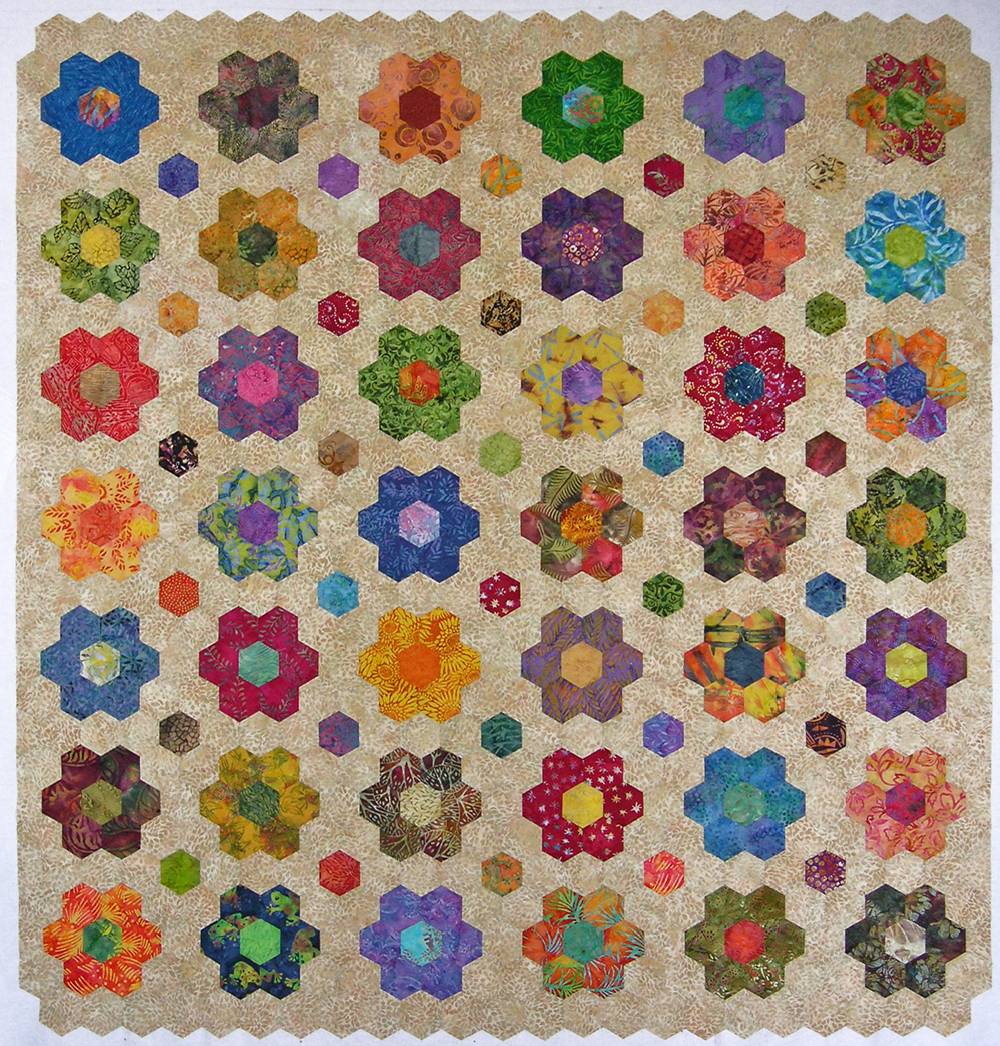 The Map is Not the Territory: A Work in Progress: Paper Quilts & Hexagonal Rotation Designs