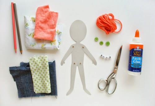 Paper dolls, ντυμένες με ύφασμα-χειροτεχνία για παιδιά