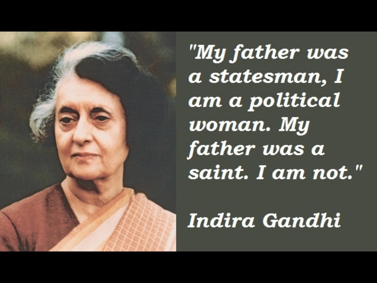 great leader indira gandhi Indira gandhi biography indira gandhi née: she was voted the greatest woman of the past thousand years in a poll carried indira married feroze gandhi in 1942.