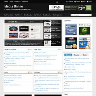 Media Online Blogger Template