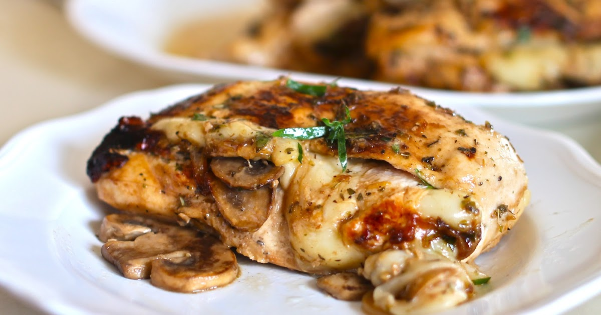 Yammie's Noshery: Mushroom and Swiss Stuffed Chicken