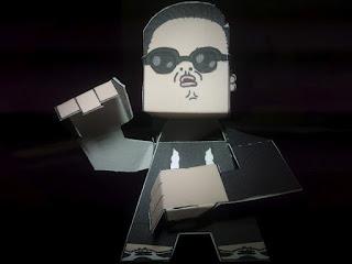 PSY Oppa Gangnam Style Papercraft-2