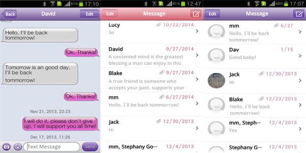 Mengganti Tampilan SMS Android Seperti iPhone