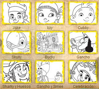 Dibujos Para Colorear Jake Y Los Piratas De Nunca Jamas Jake And The