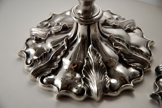 The base of a very fine Victorian Silver Plate candlestick