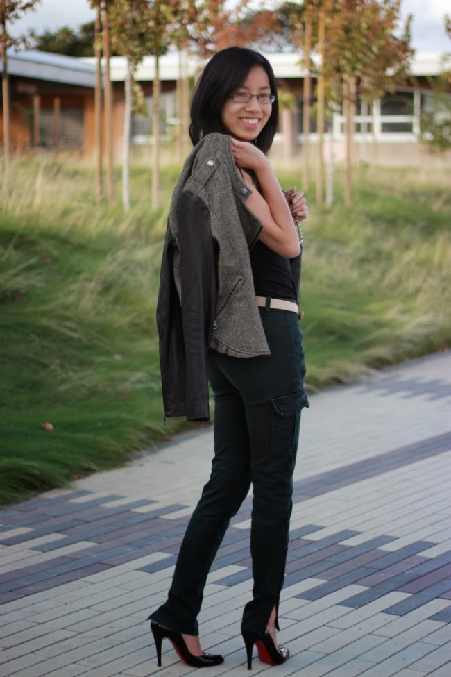 fall textured outfit jacket cape