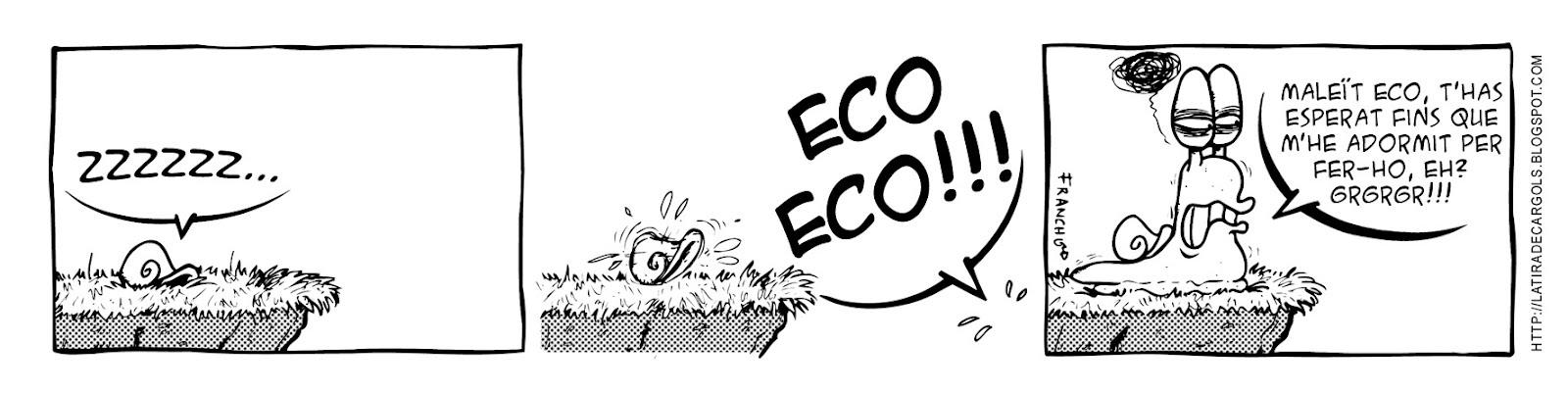 Tira comica 122 del webcomic Cargols del dibuixant Franchu