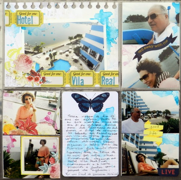 The Best Things of Life layout by Solange Marques featuring BoBunny Sweet Life collection.
