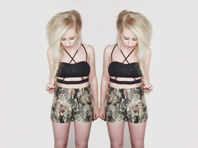 Sammi Jackson - Cutout Crop + Cat Shorts