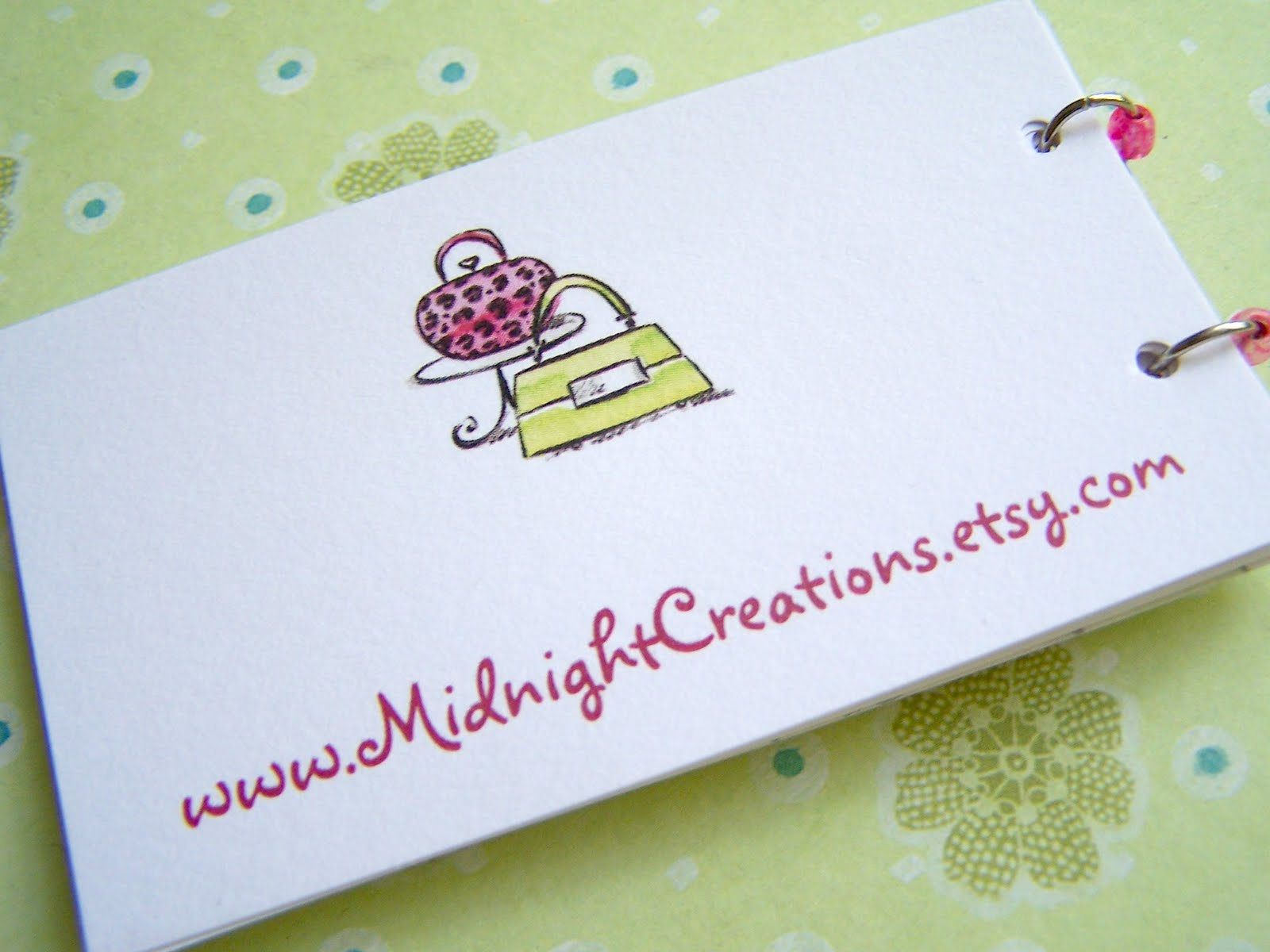 Midnight Creations: Business Card Beaded Note Pad