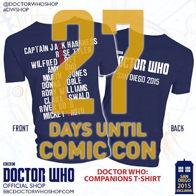 "San Diego Comic-Con 2015 Exclusive Doctor Who ""Companions"" T-Shirt by the BBC Store"