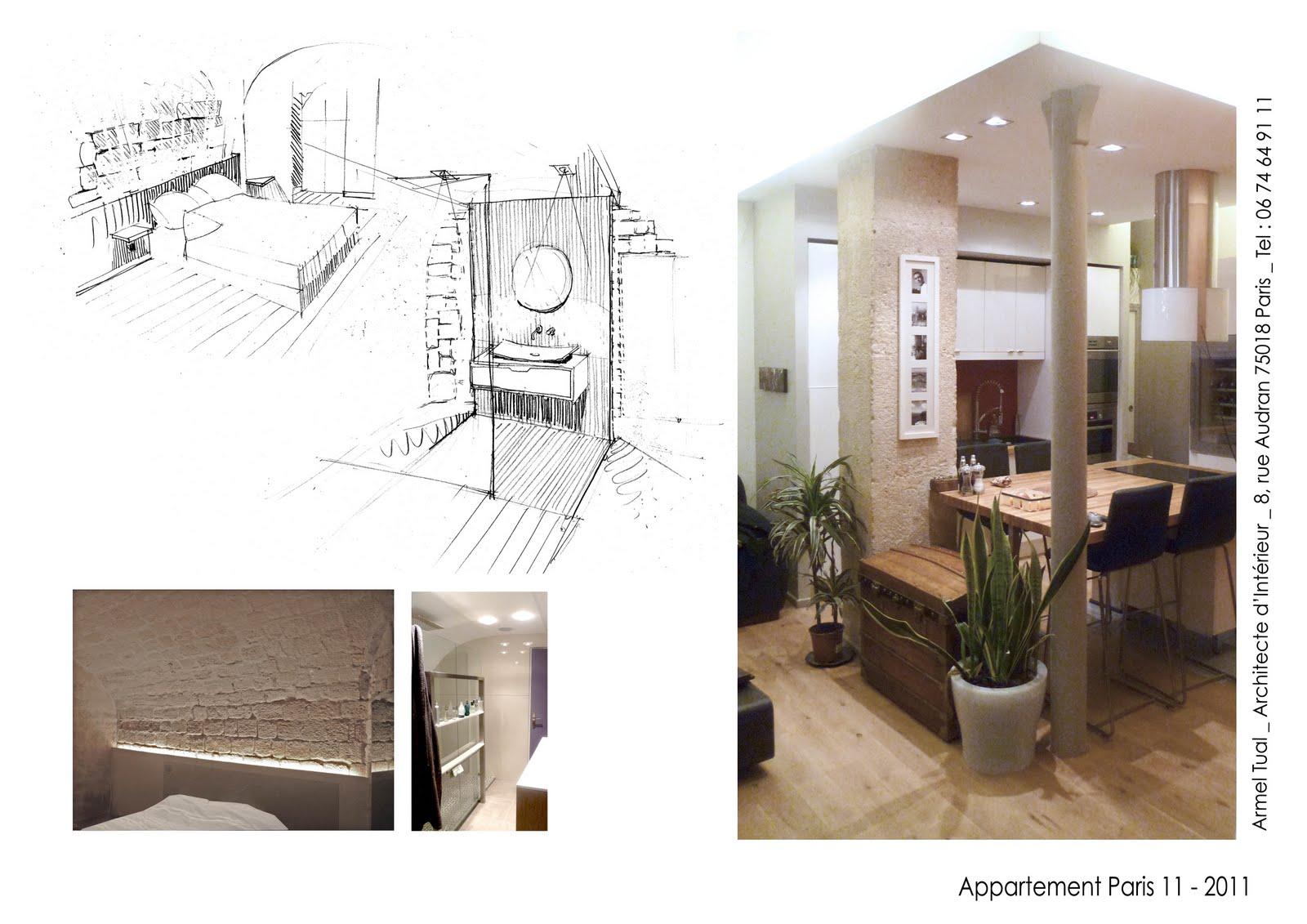 Armel tual architecte d 39 int rieur cfai duplex de 60m2 for Architecte d interieur quimper