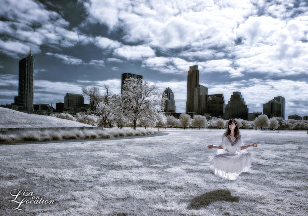 infrared, Canon 50D, levitation, zen, Austin skyline, Lisa On Location Photography, New Braunfels, San Antonio, San Marcos, Austin