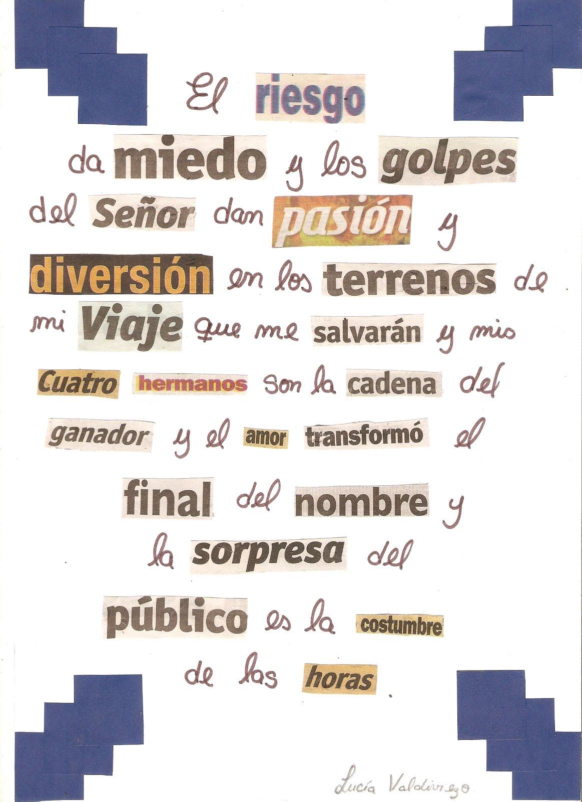 Poema Vanguardista-Dadaismo   Tareas de Comunicacion