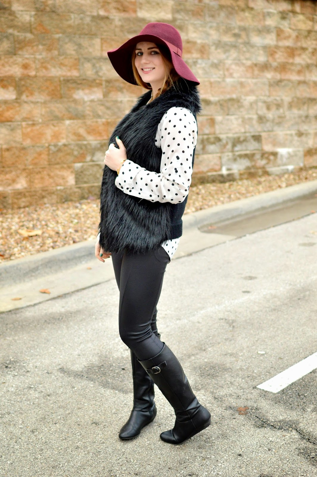 faux fur and polka dots on a memory of us