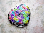 Heart Shaped Polymer Pocket Mirror