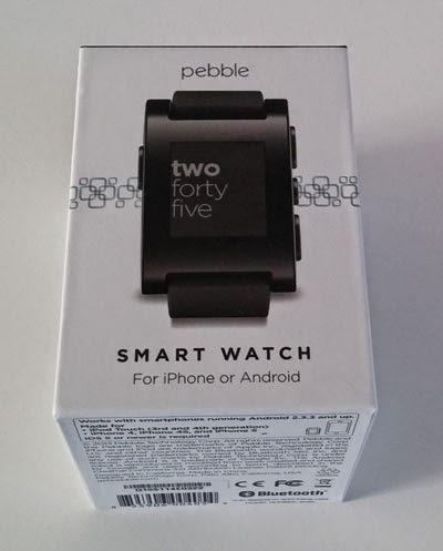Caja del Smartwatch Pebble.