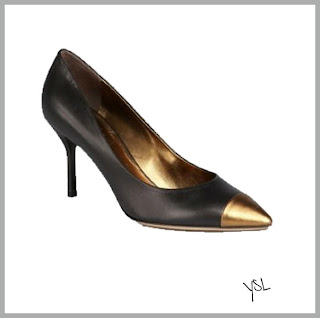 Metallic Colored Cap Toe Pumps