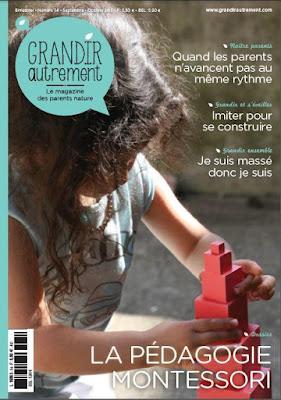 abonnement revue magazine Grandir Autrement maternage parentalité bienveillante bienveillance enfant alternative éducation parent