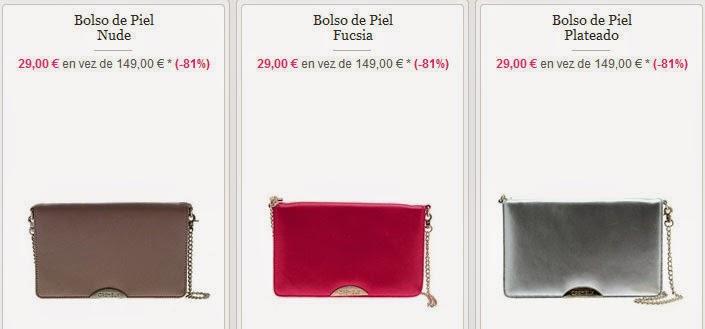 Ejemplos de bolsos disponibles en esta oferta
