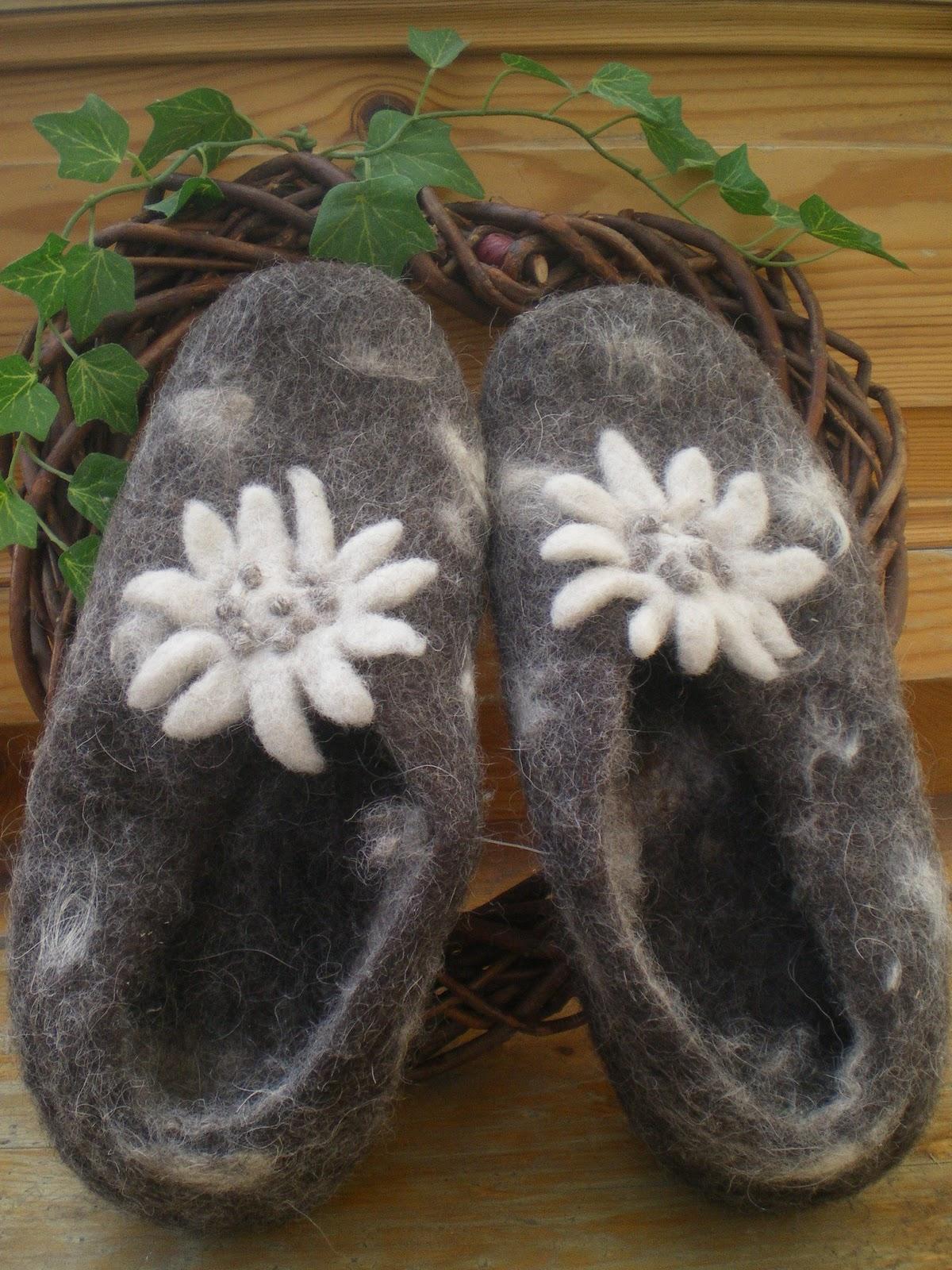 Creazioni con fantasia pantofole in lana cotta for Rivista di case da sogno