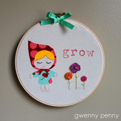 Gwenny Penny Point Of View And Spring Embroidery Art Tutorial