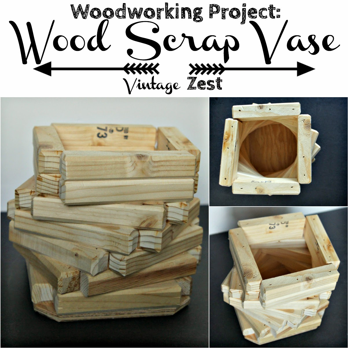 Project #0: Wood Scrap Vase on Diane's Vintage Zest!