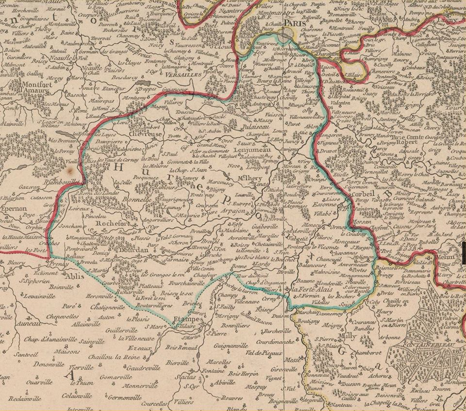 UNE NOUVELLE CARTE DU HUREPOIX (source : bibliothèque nationale)